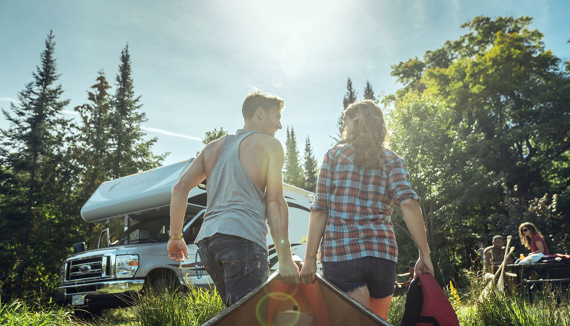 Camping au parc Algonquin (Photo : Destination Ontario)