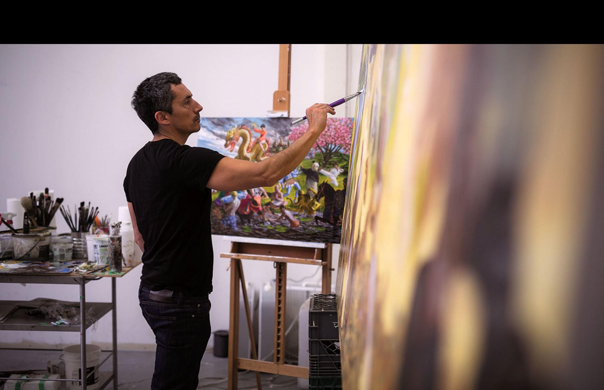 Kent Monkman en studio