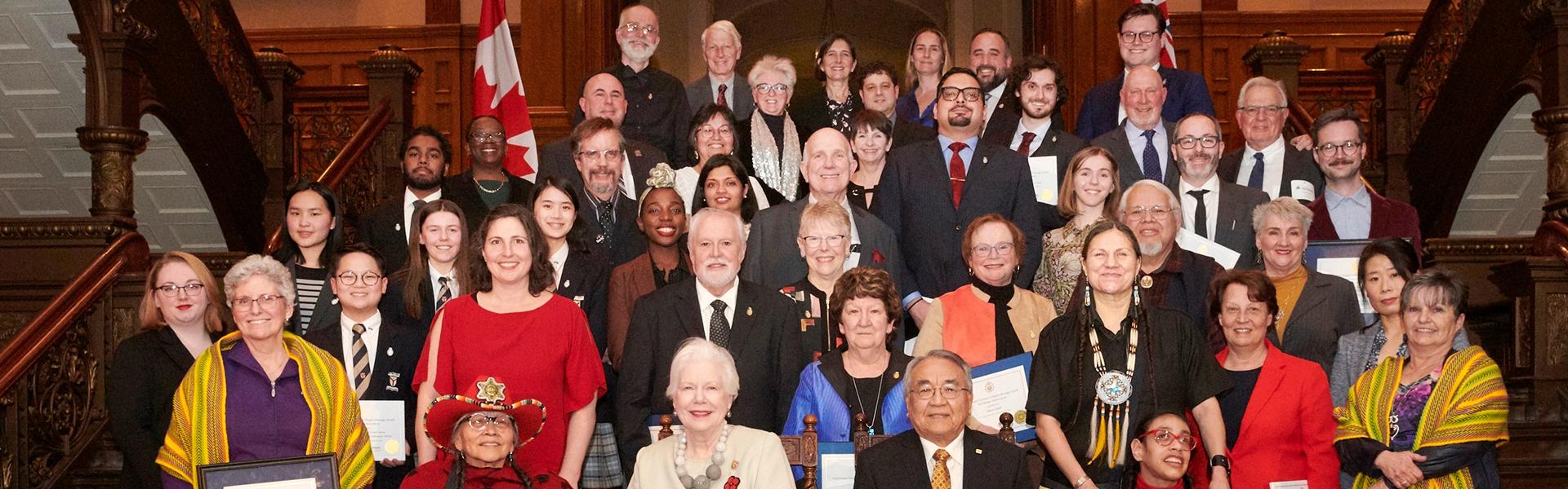 Récipiendaires des Prix du lieutenant-gouverneur pour les réalisations en matière de conservation du patrimoine ontarien 2019