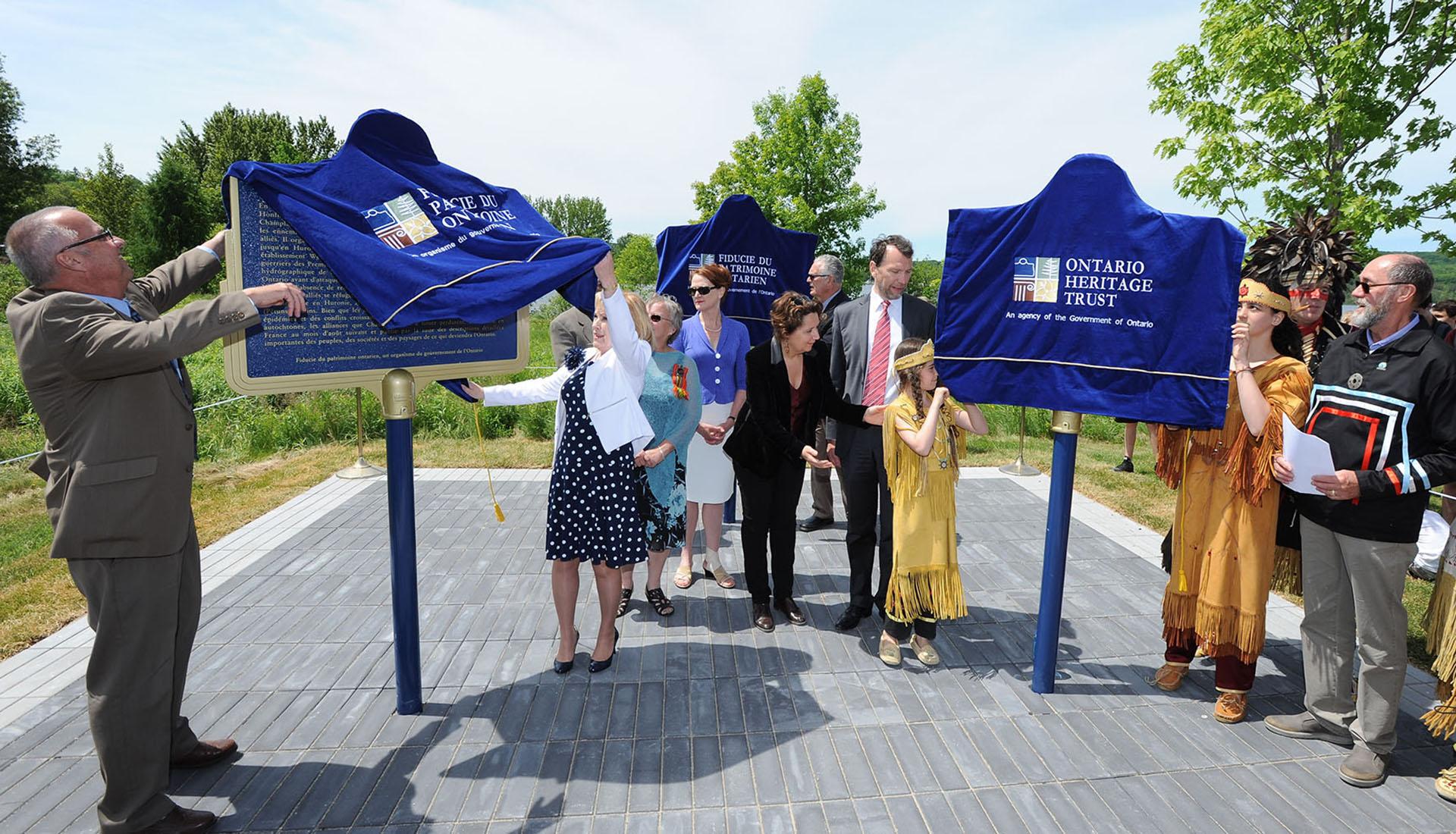 Champlain 400 plaque unveiling
