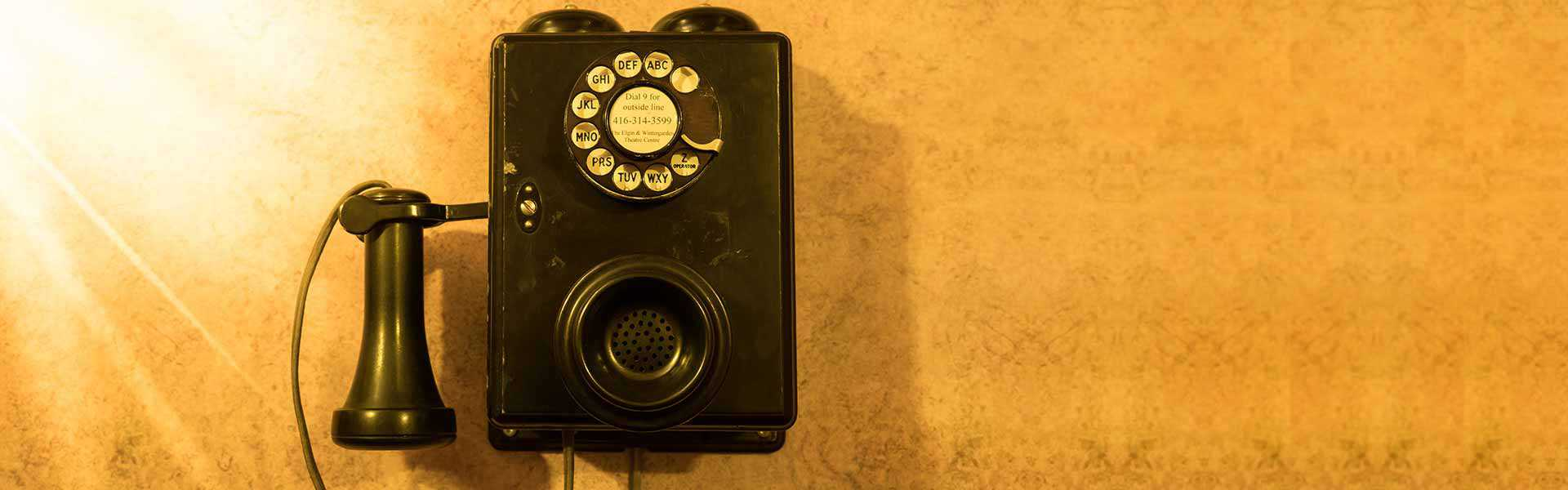 Old telephone at the Elgin and Winter Garden Theatre Centre