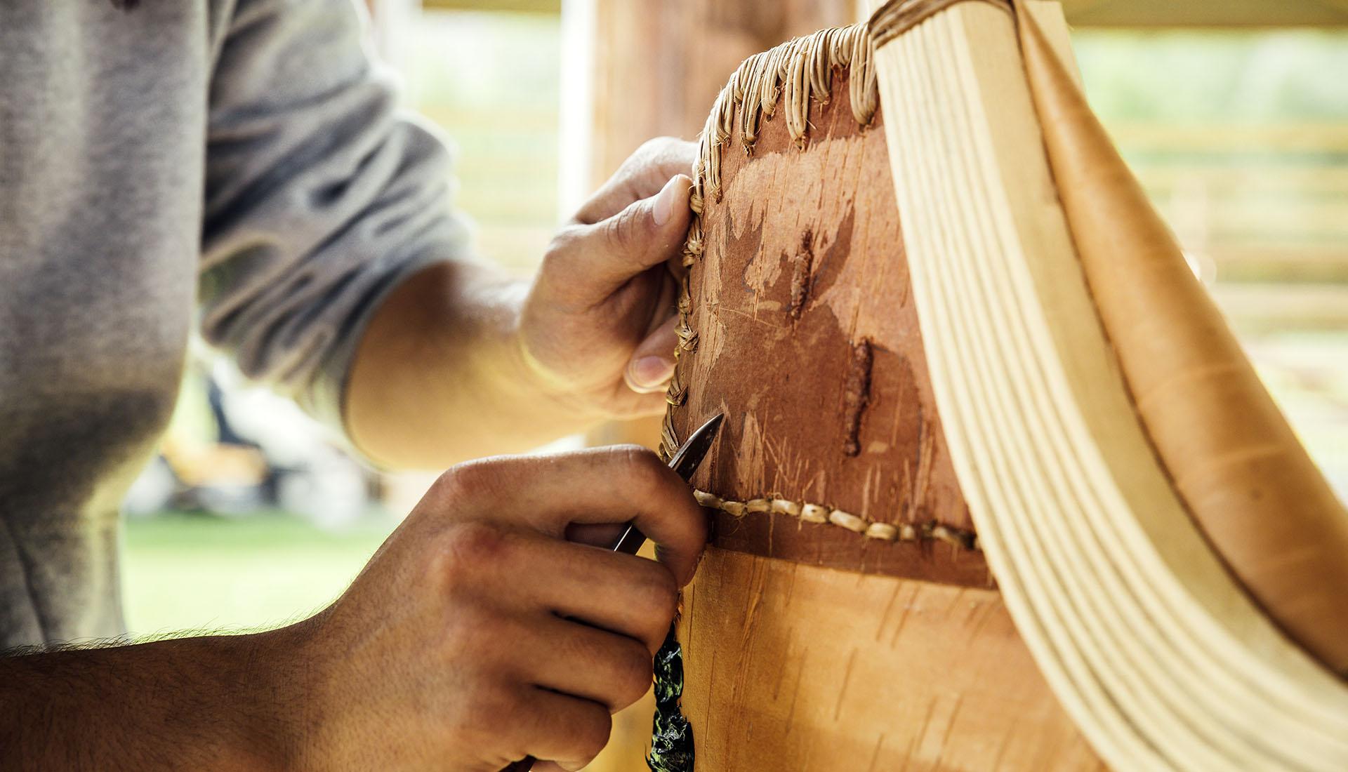 Building a canoe