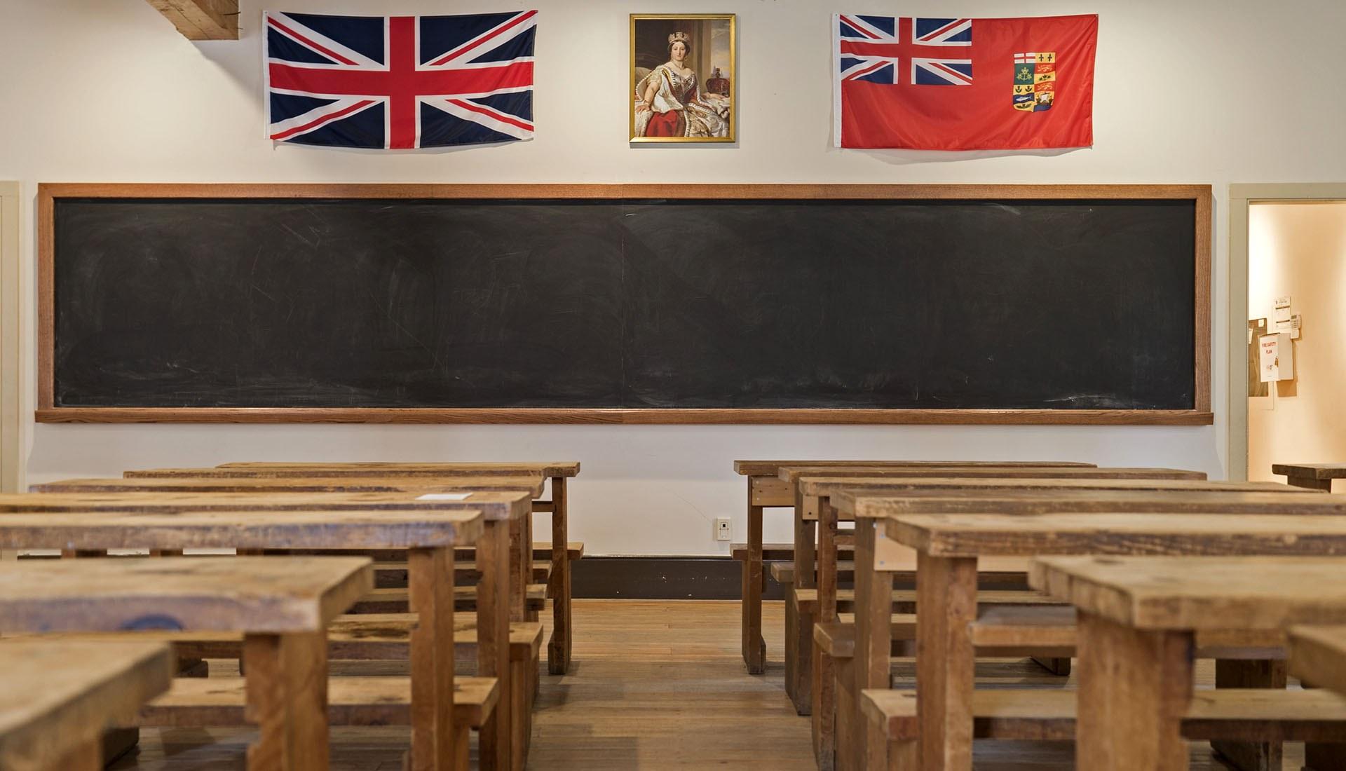Salle de classe de l'école Enoch Turner