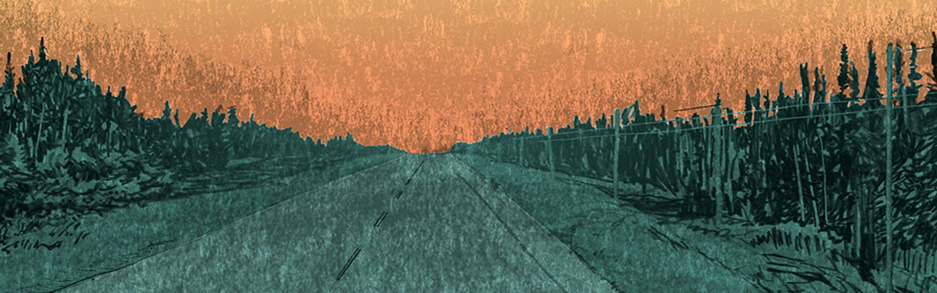Highway 11, near Hearst (illustration)