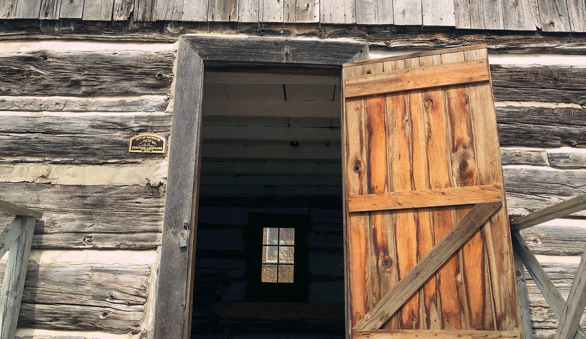Waterloo's Log Schoolhouse