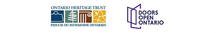 Ontario Heritage Trust and Doors Open Ontario logos