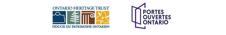 Les logos de la Fiducie du patrimoine ontarien et Portes ouvertes Ontario