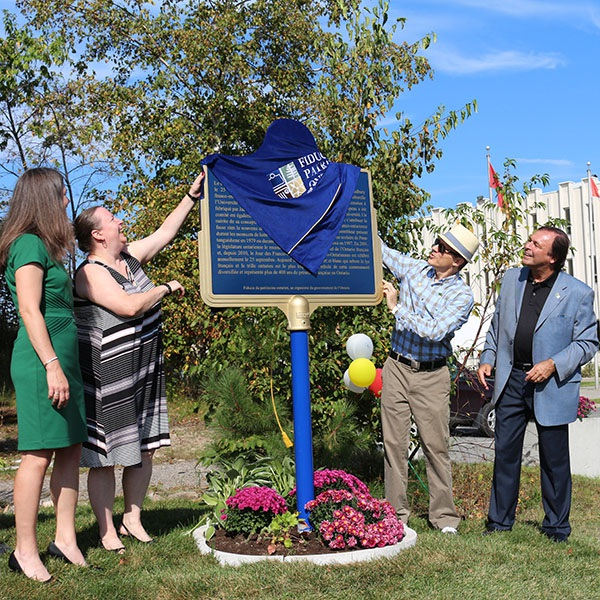 Franco-Ontarian Flag plaque unveiling