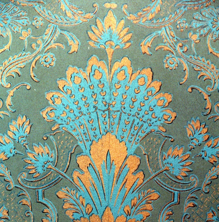 Wallpaper at George Brown House, Toronto