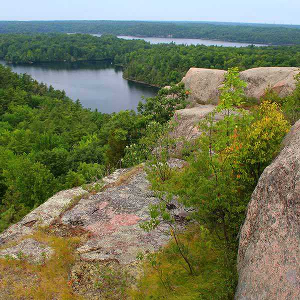 View of the Rideau Waterway from Rock Dunder