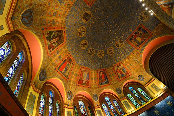 Plafond de St. Anne's Anglican Church (Toronto) (Photo : Alex Meoko)