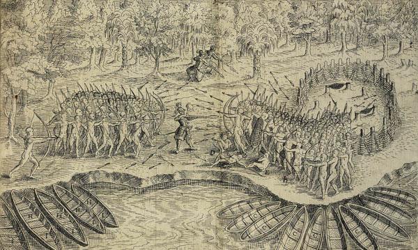 Champlain Battle Sketch Lac