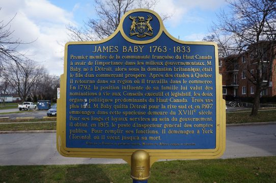 Provincial plaque at Duff-Baby House