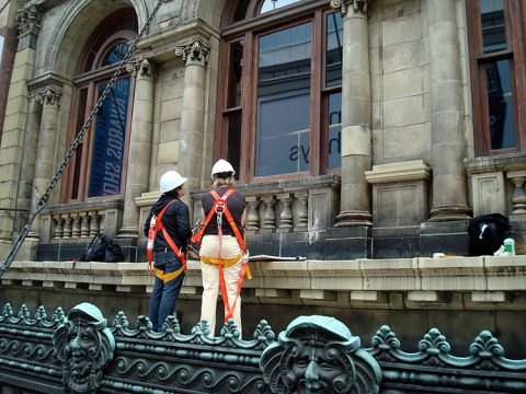 Restoring the Yonge Street façade and arched windows