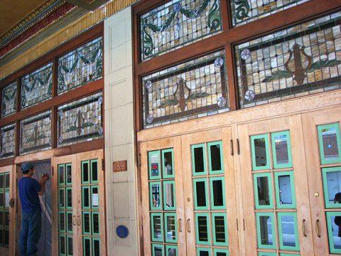 Restoring the original terra cotta on the front doors