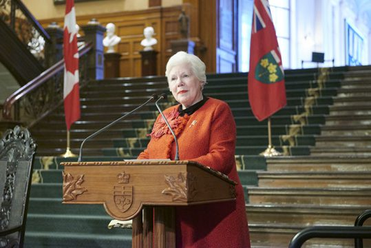 Lieutenant Governor Elizabeth Dowdeswell, 2017