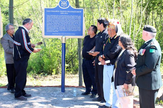 Pegahmagabow Plaque Unveiling 2015