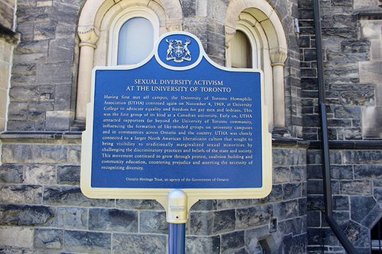 Sexual Diversity University Of Toronto Plaque