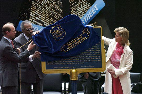 TD Centre plaque unveiling, Toronto (2005)