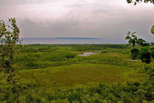 Poste d'observation au nord-est de la propriété C. Thompson