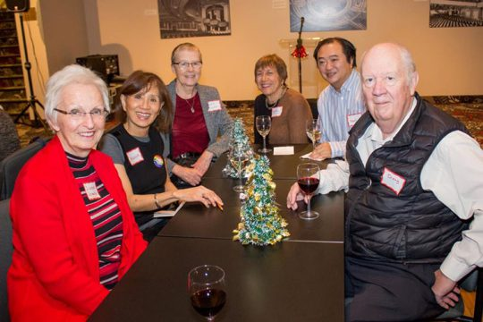 Holiday gathering with volunteers