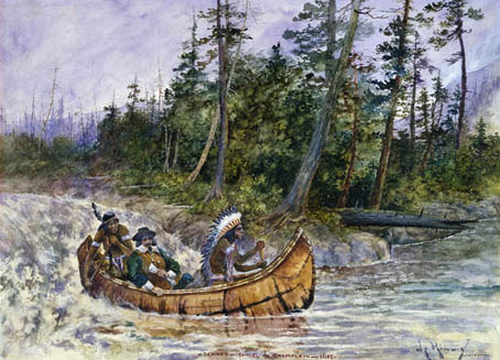 Exh Champlain Eyes Of Na Champlain Canoe