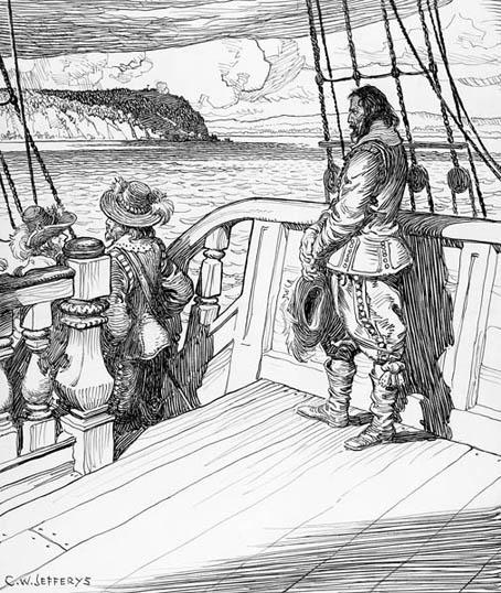 Exh Champlain Hist Champlain Leaving Quebec