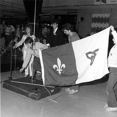 Exh Franco Raising Franco Ontarian Flag