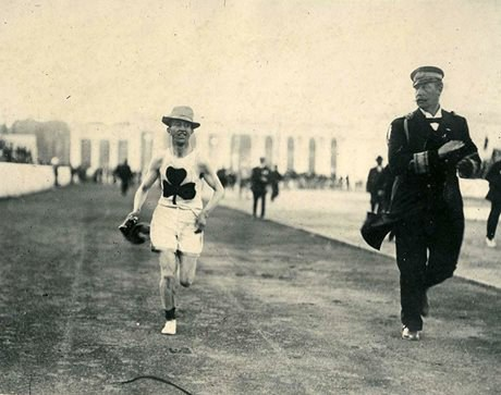 Billy Sherring, gold medal marathon event, 1906 (Photo courtesy of Canada's Sports Hall of Fame)