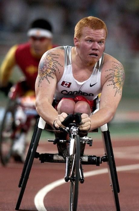 Jeff Adams, épreuve du 400 mètres, 2004 (Avec l'aimable autorisation du Comité paralympique canadien)