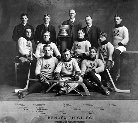 Kenora Thistles, 1907 (Photo courtesy of the Hockey Hall of Fame)