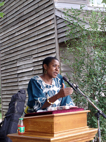 Afua Cooper at Uncle Tom's Cabin Historic Site