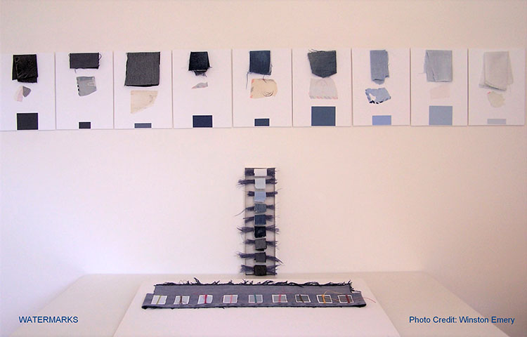 Watermarks, an installation by Carol Page