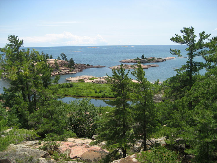 The shoreline of Georgian Bay
