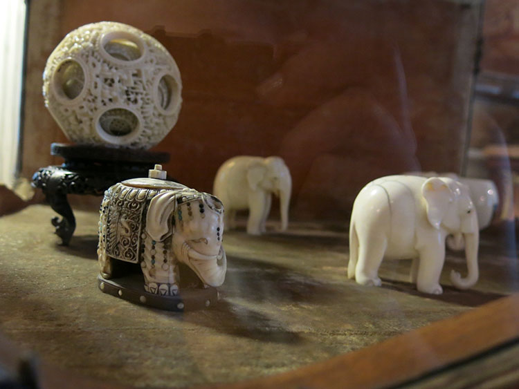 Ivory elephants, Fulford Place