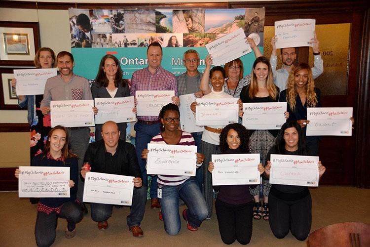 Participants à l'atelier MonOntario au ministère des Affaires francophones