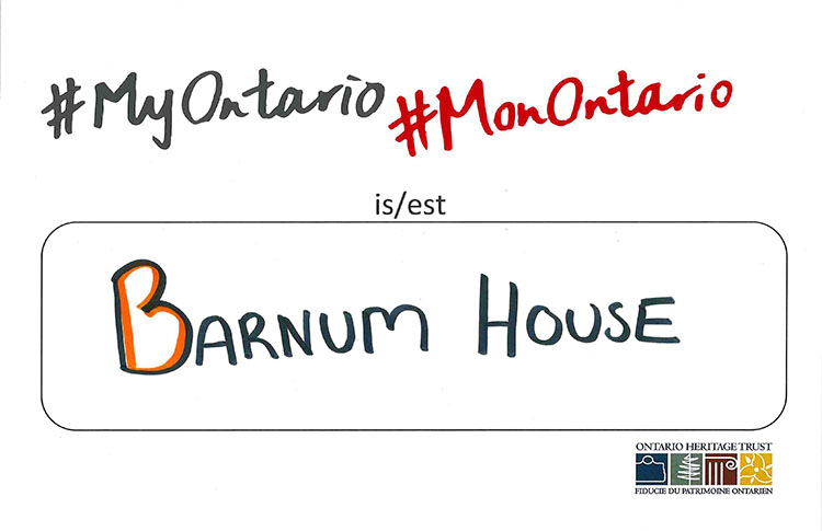 #MyOntario is Barnum House