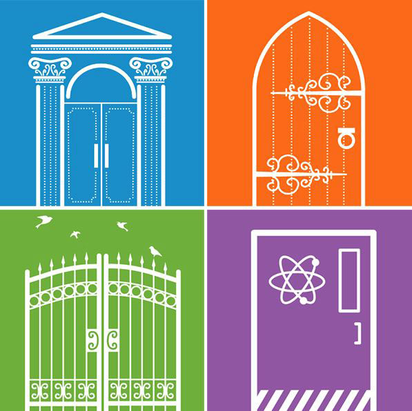 (Graphic) Historical doors, gate, laboratory door