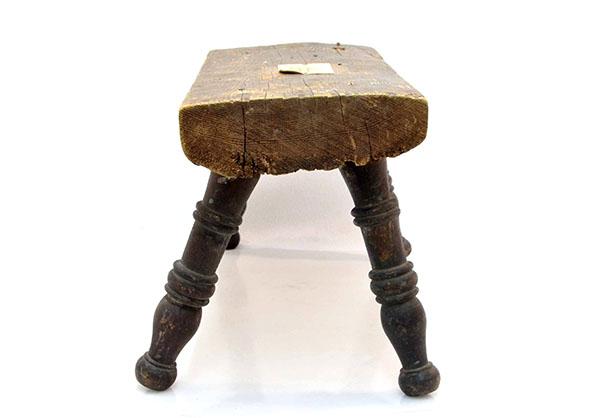 Wooden stool, Niagara Historical Society