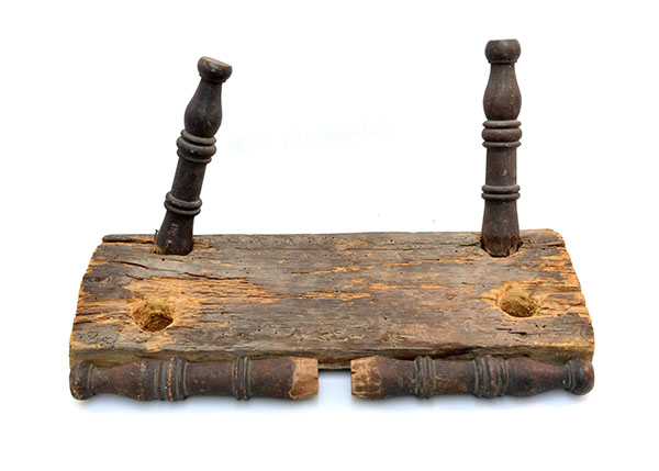 Wooden stool, Niagara Historical Society