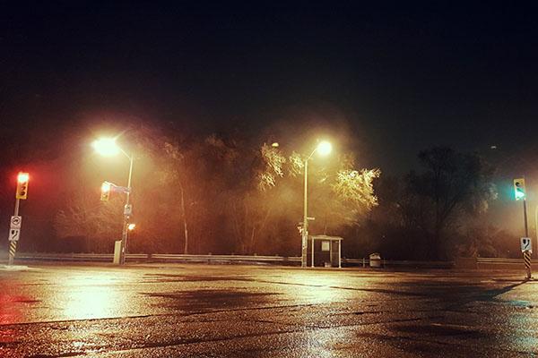 Toronto pendant une tempête de verglas (2017)