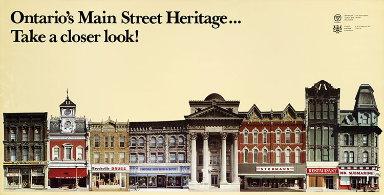 1978 Ontario Heritage Foundation poster: Ontario's Main Street Heritage ... Take a closer look!
