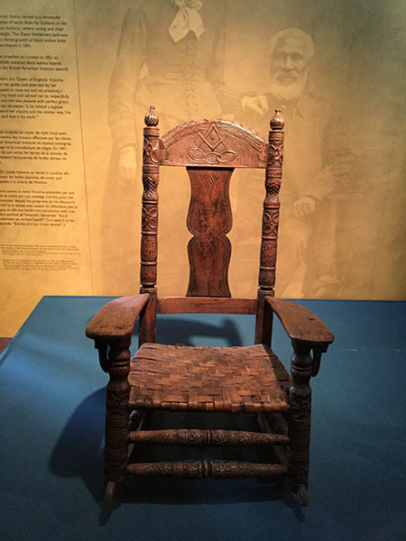 Black walnut rocking chair, Uncle Tom's Cabin Historic Site