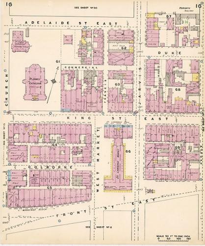1880 Goad Plan (Archives de la Ville de Toronto)