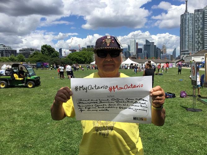 Alphonse Tourville, Fort York National Aboriginal Day