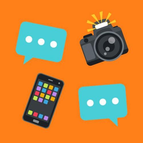 Graphique (appareil photo, téléphone, dactylographie)
