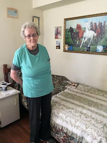 Diane avec sa magnifique peinture de chevaux