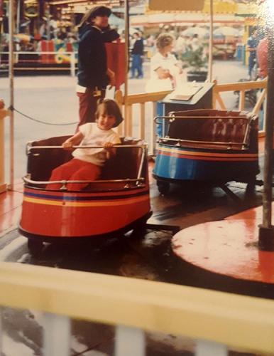 Having fun at Boblo Island, c. 1984