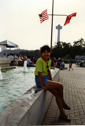 Isabel Reid à Niagara Falls, 1989