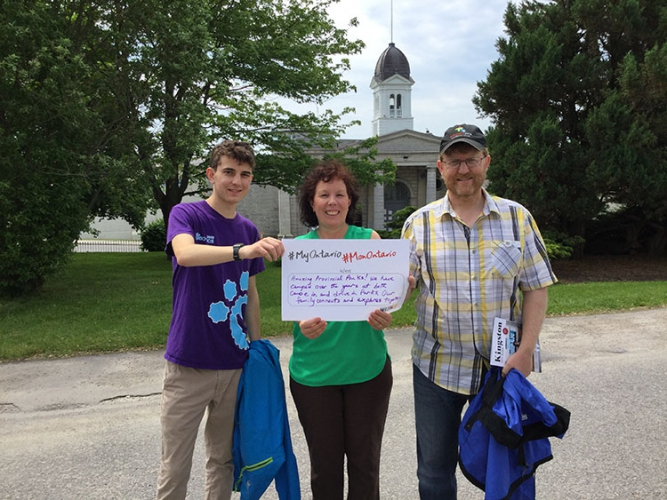Janice Finkle, Adam Leslie and Ian Leslie at the Kingston Penitentiary Museum, Doors Open Kingston (June 17, 2017)